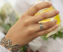 Серебряное кольцо и браслет