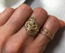 Перстень с оленем и кольцо