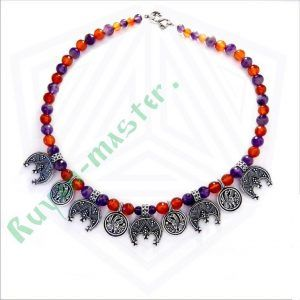Ожерелье обережное с лунницами и соколами