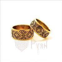Обручальные кольца в славянском стиле