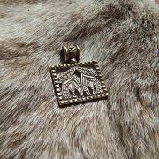 Бронзовая подвеска вороны Одина «Хугин и Мунин» фото 2