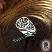Кольцо-оберег Шлем Ужаса (Агисхьяльм) фото 3