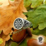 Кольцо-оберег Шлем Ужаса (Агисхьяльм) фото 1
