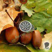 Кольцо-оберег Шлем Ужаса (Агисхьяльм) фото 5