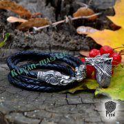 Шнур/браслет «Волки кусачие» из натуральной кожи фото 4