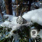Кольцо-оберег Шлем Ужаса (Агисхьяльм) фото 7