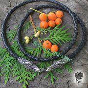 Гайтан (шнур), браслет «Вороны кусачие» из натуральной кожи фото 8