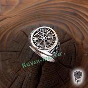 Серебряное кольцо «Вегвизир» фото 3