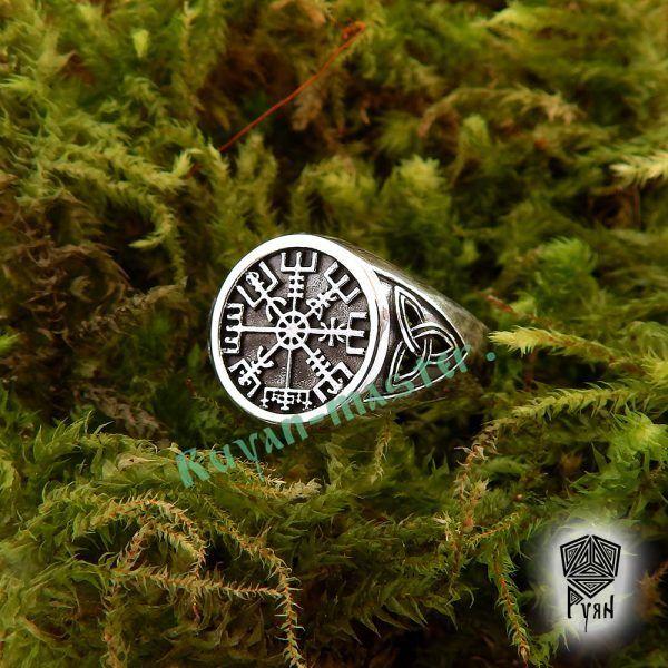 Серебряное кольцо «Вегвизир» фото 1