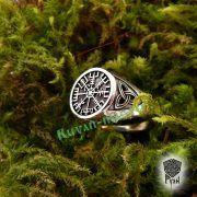 Серебряное кольцо «Вегвизир» фото 4