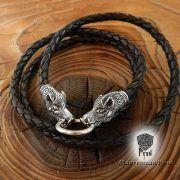 Кожаный гайтан (шнур), браслет «Вепри кусачие» фото 2