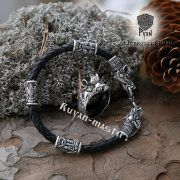 Серебряный перстень «Вепрь» с руной Тюр фото 2