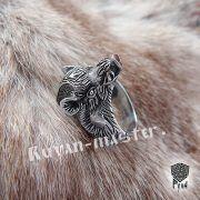 Серебряный перстень «Вепрь» с руной Тюр фото 3