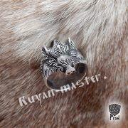 Серебряный перстень «Вепрь» с руной Тюр фото 4