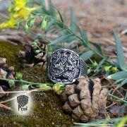 Прорезное кольцо «Варяжские волки» фото 3