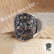 Прорезное кольцо «Варяжские волки» фото 2
