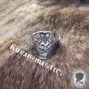 Кольцо «Варяжские волки» сплошное фото 3