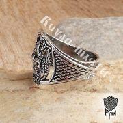 Прорезное кольцо «Варяжские волки» фото 5