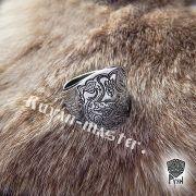 Кольцо «Варяжские волки» сплошное фото 1