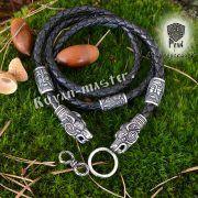 Шнур/браслет «Волки кусачие» из натуральной кожи фото 1
