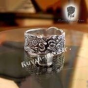 Серебряное кольцо «Волки Одина» фото 5