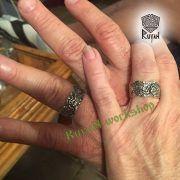 Серебряное кольцо «Волки Одина» фото 4