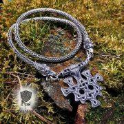 Серебрянная цепь «Волки кусачие» (плетение Викинг) фото 7