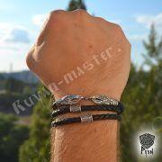 Гайтан (шнур), браслет «Вороны кусачие» из натуральной кожи фото 4