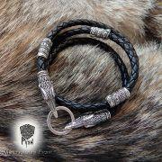 Гайтан (шнур), браслет «Вороны кусачие» из натуральной кожи фото 7