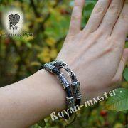 Гайтан (шнур), браслет «Вороны кусачие» из натуральной кожи фото 3