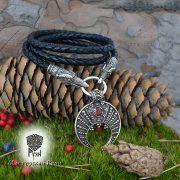 Гайтан (шнур), браслет «Вороны кусачие» из натуральной кожи фото 6