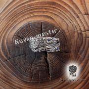 Серебряное кольцо «Вороны Одина» фото 2