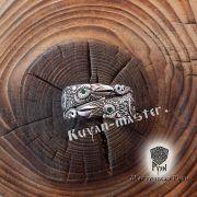 Серебряное кольцо «Вороны Одина» фото 1