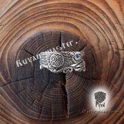 Серебряное кольцо «Вороны Одина» фото 7