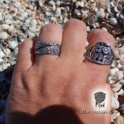 Серебряное кольцо «Вороны Одина» фото 6