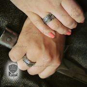 Серебряное кольцо «Вороны Одина» фото 4
