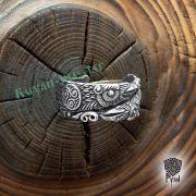 Серебряное кольцо «Вороны Одина» фото 8