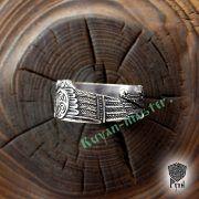 Серебряное кольцо «Вороны Одина» фото 9