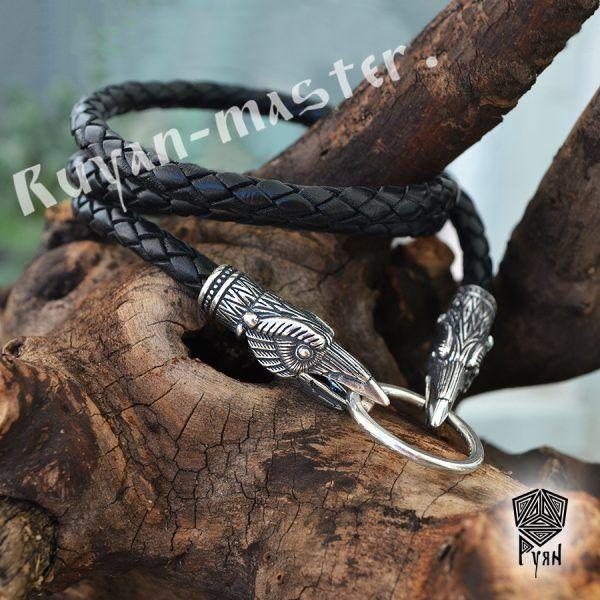 Гайтан (шнур), браслет «Вороны кусачие» из натуральной кожи фото 1