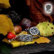 Серебряное кольцо «Драконы викингов» фото 2