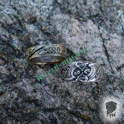 Серебряное кольцо «Драконы викингов» фото 5