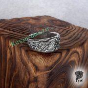 Серебряное кольцо «Драконы викингов» фото 3