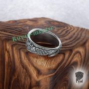 Серебряное кольцо «Драконы викингов» фото 4