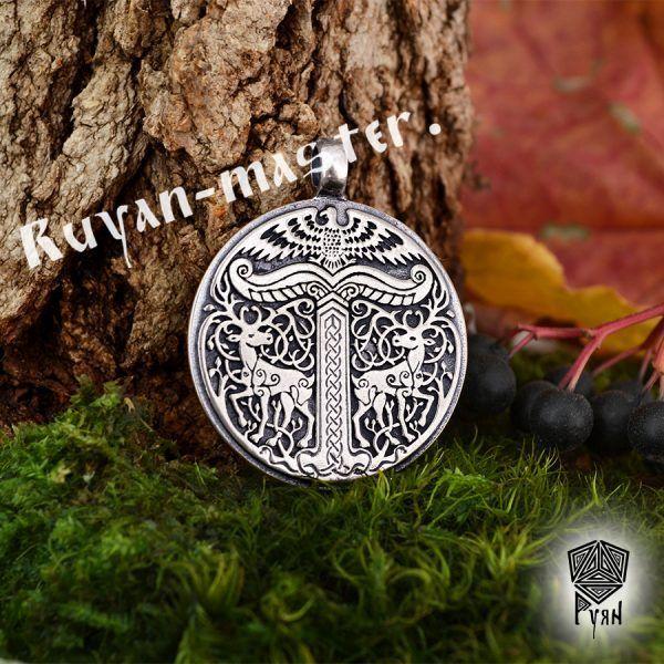 Серебряный кулон Дерево жизни Иггдрасиль фото 1