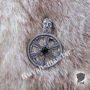 Подвеска «Колесо Сварога» с камнем фото 8