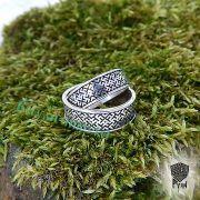 Обручальные кольца «Обережное» из серебра фото 8