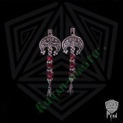 Серьги «Лунница с растительным орнаментом» с камнями фото 3