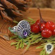 Кольцо «Лунничка с камнем» фото 6