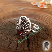 Кольцо «Лунничка с камнем» фото 2
