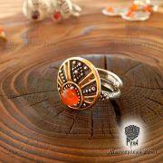 Кольцо «Лунничка с камнем» фото 1